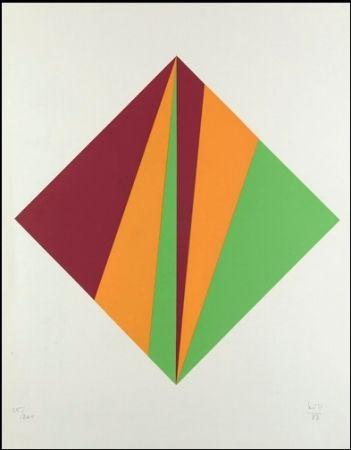 Screenprint Bill - Komposition in Grün, Orange und Rot