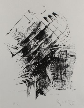 Lithograph Heiliger - Komposition IV