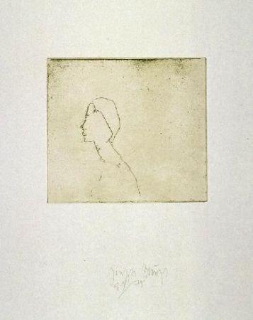 Etching And Aquatint Beuys - Kopf H.B