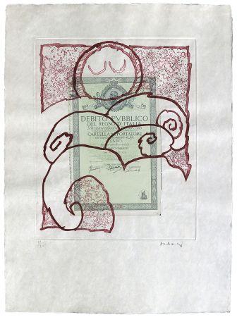 Engraving Alechinsky - Krach I.