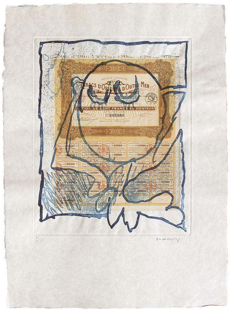 Engraving Alechinsky - Krach II.