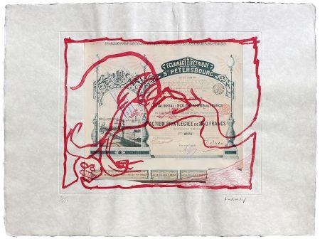 Engraving Alechinsky - Krach IV.
