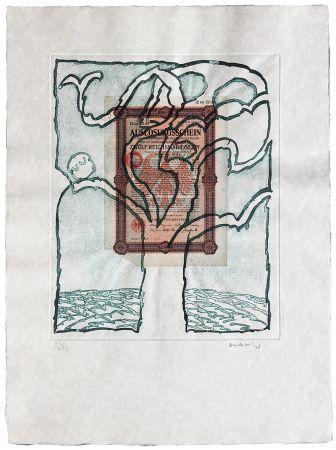 Engraving Alechinsky - Krach V.