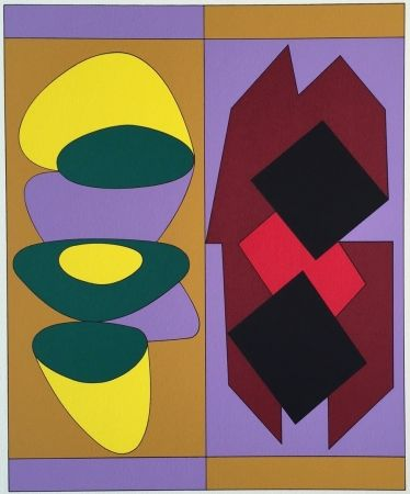 Screenprint Vasarely - Kris Bille, from Ion Album