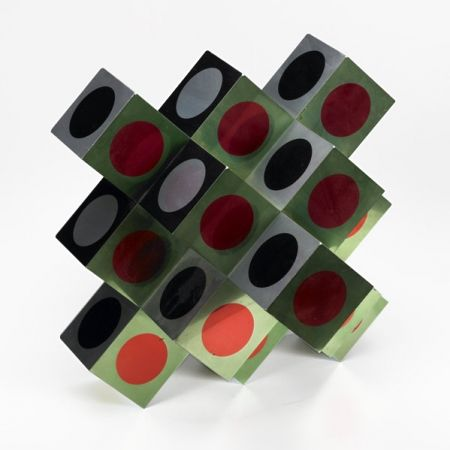 Lithograph Vasarely - Kroa Multicolor
