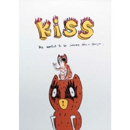 Lithograph Kaga - Kumacchi wanted to be someone else