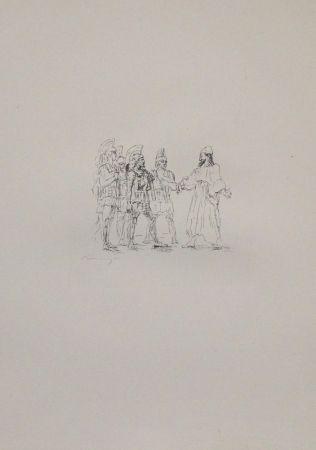 Lithograph Slevogt - Kyros und die hellenischen Obersten