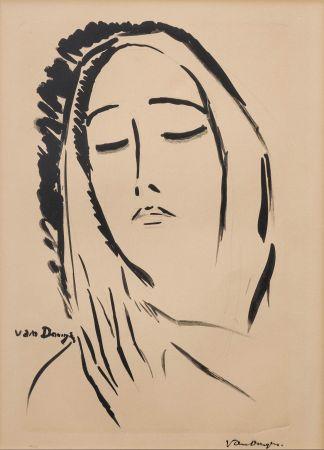 Lithograph Van Dongen - L'écharpe. 1925.
