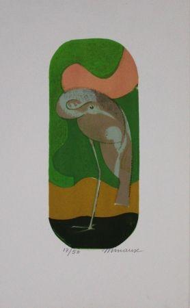 Lithograph Minaux - L'échassier / Wading Bird