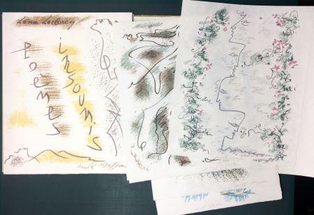 Illustrated Book Masson - Léna Leclercq. POÈMES INSOUMIS. 10 lithographies signées (1963)