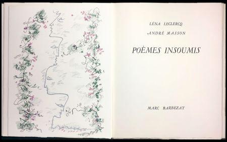 Illustrated Book Masson - Léna Leclercq. POÈMES INSOUMIS. 8 lithographies en couleurs (1963)