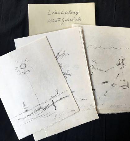 Illustrated Book Giacometti - Léna Leclercq : POMME ENDORMIE. Lithographies originales d'Alberto Giacometti.