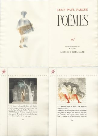 Illustrated Book Alexeïeff - Léon-Paul Fargue : POÈMES. Eaux-fortes en couleurs par Alexeïeff (1943)