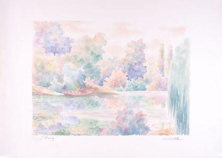 Lithograph Cavalle - L'étang