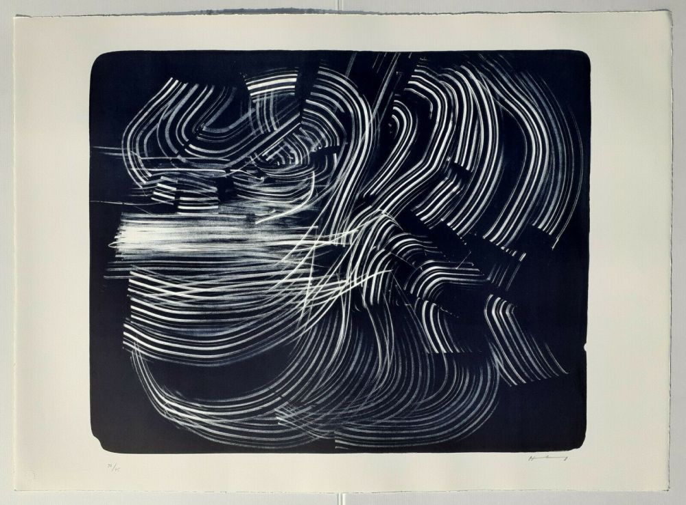 Lithograph Hartung - L-10-1973