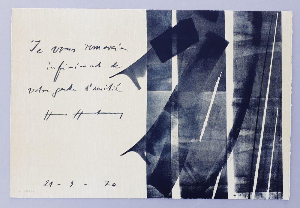 Lithograph Hartung - L-1974-2