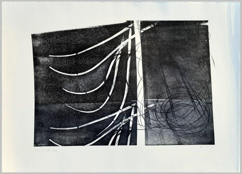 Lithograph Hartung - L-38-1973