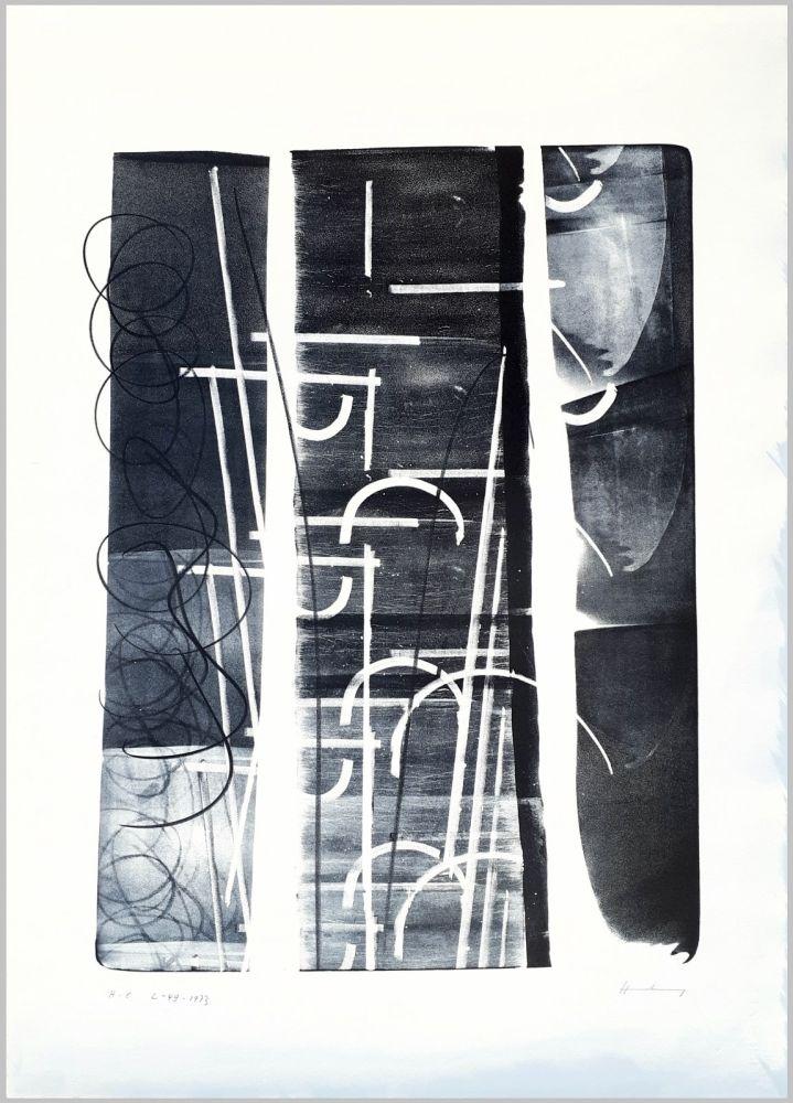 Lithograph Hartung - L-49-1973