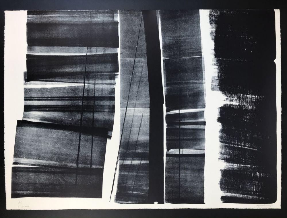 Lithograph Hartung - L - 21 - 1974