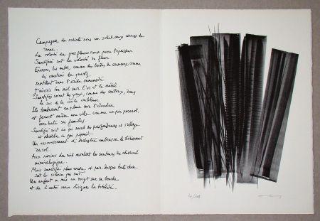 Lithograph Hartung - L 162, 1965