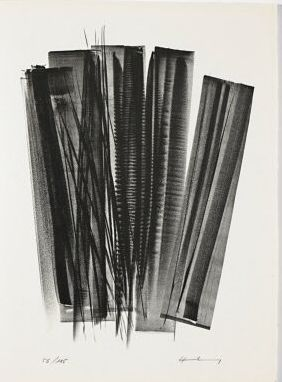 Lithograph Hartung - L 162 (Jean Cassou: vingt-deux poèms)