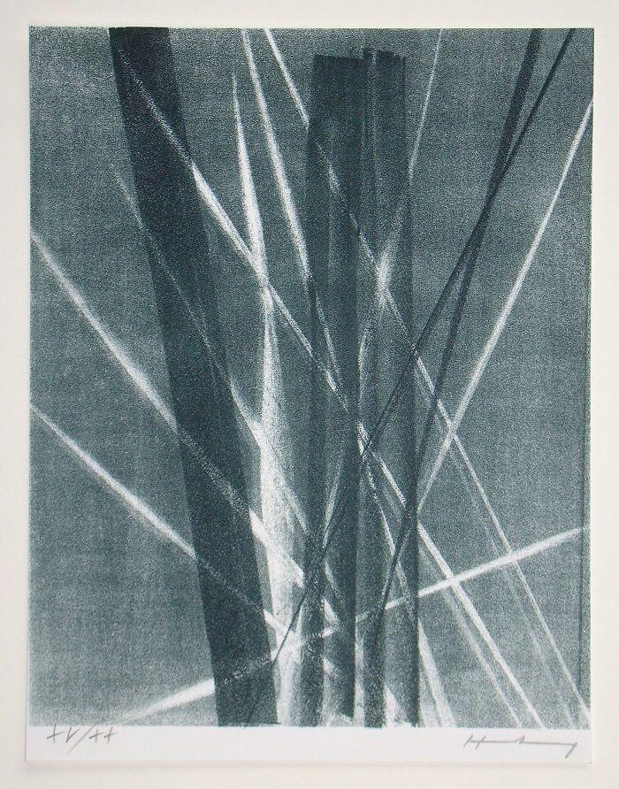 Lithograph Hartung -  L 1966 - 40