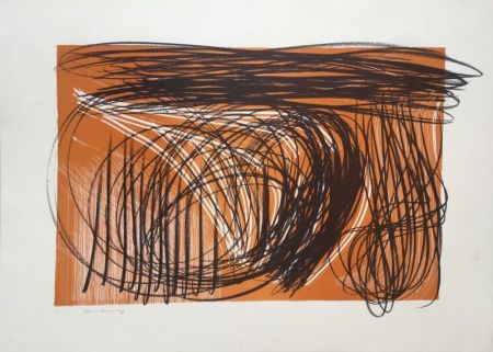 Lithograph Hartung - L 1971-1