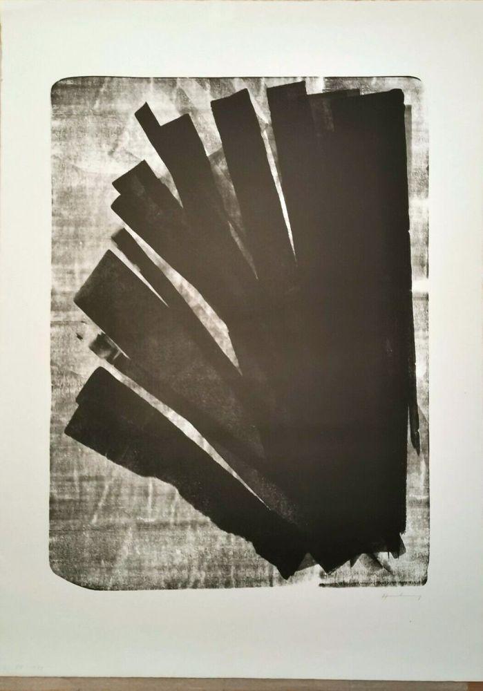 Lithograph Hartung - L 1973-58, 1973