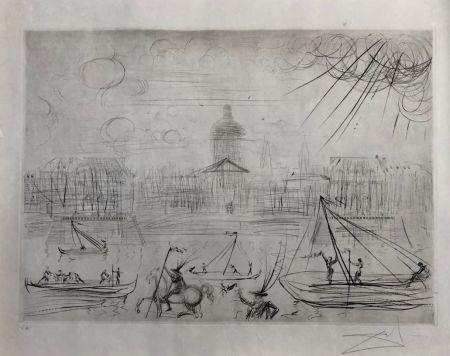 Engraving Dali - L' Academie des beaux arts