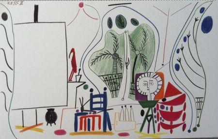 Lithograph Picasso - L atelier de la californie