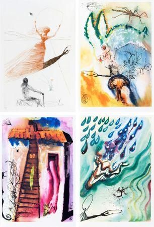 Illustrated Book Dali - L. Carroll: ALICE IN WONDERLAND. 1 eau-forte et 12 bois et héliogravures en couleurs. Avec suite sur Japon nacré (1969).