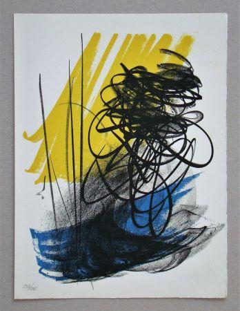 Lithograph Hartung - L différée - 2, 1964