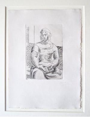 Etching Picasso -  L' Italienne (s. ta130) Femme au Livre