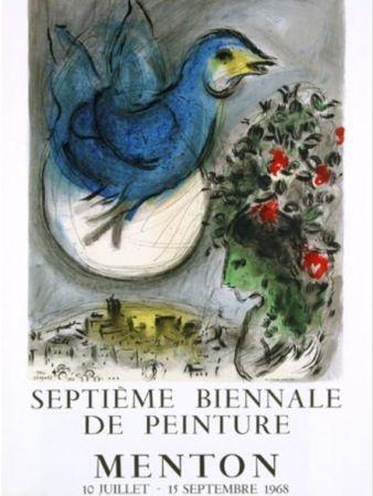 Lithograph Chagall - L OISEAU BLEU