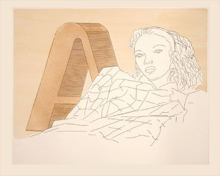 Etching And Aquatint Ray - L'A (1971)