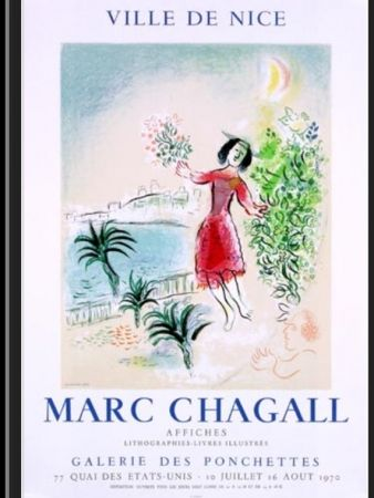 Lithograph Chagall - LA BAIE DE NICE