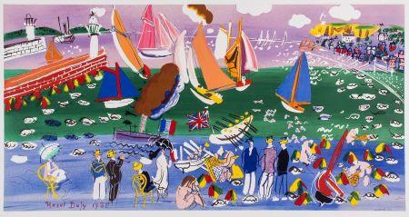 Lithograph Dufy - LA BAIE DE SAINTE-ADRESSE (1935).