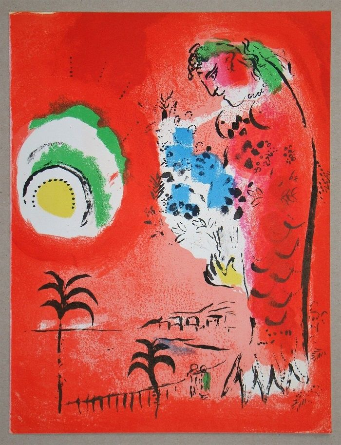 Lithograph Chagall - La Baie Des Anges