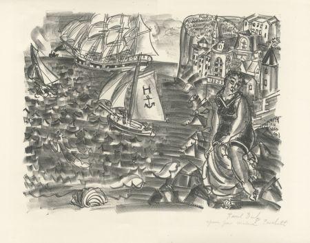 Lithograph Dufy - La Baigneuse