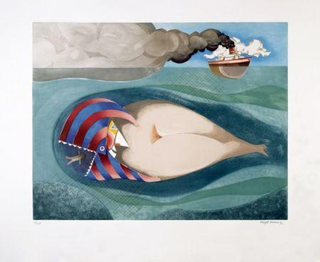 Aquatint Marin - La Baleine