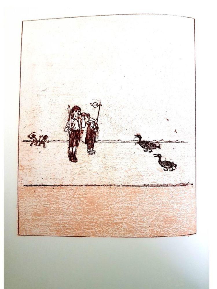 Lithograph Ernst - La Ballade du Soldat