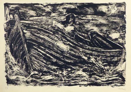 Lithograph Barcelo - La barque