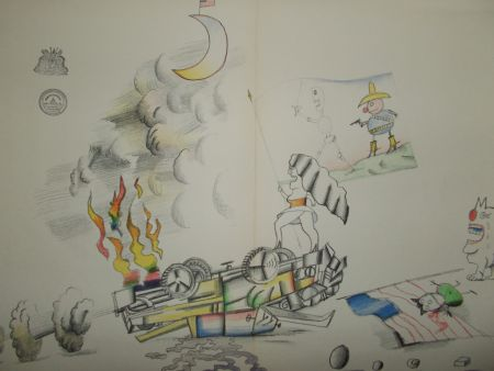 Lithograph Steinberg - La Bataille