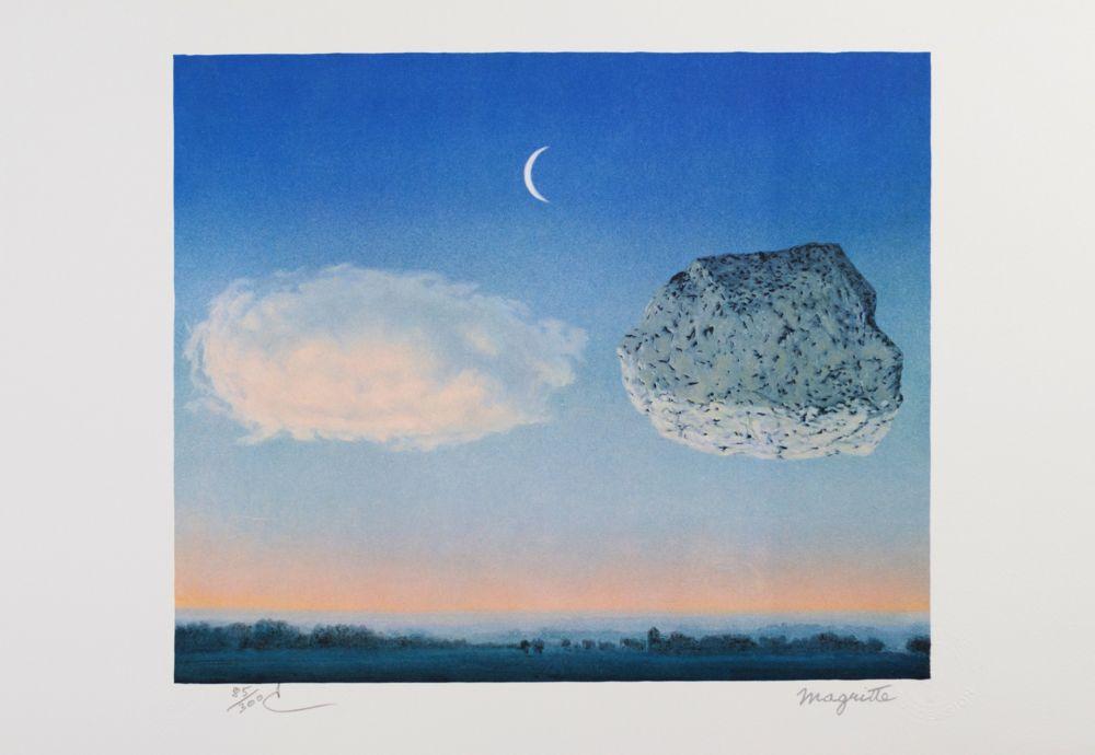 Lithograph Magritte - La Bataille de Argonne