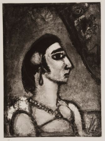 Aquatint Rouault - La Beautè