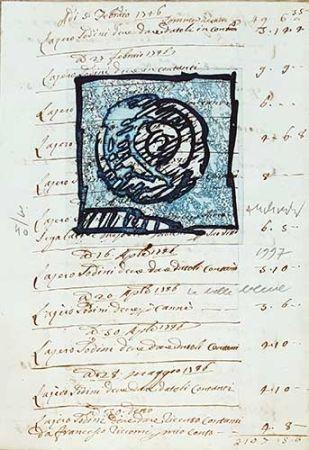 Etching Alechinsky - La belle bleue