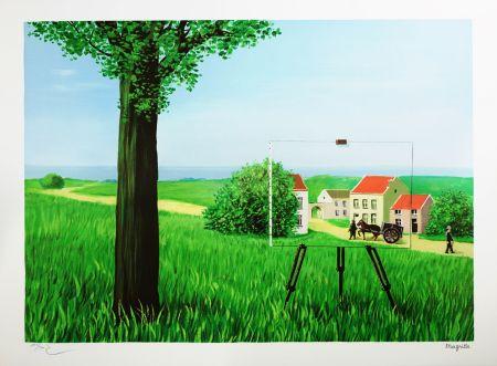 Lithograph Magritte - La Belle Captive (The Fair Captive)