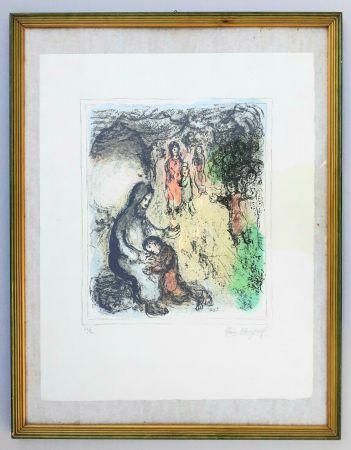 Lithograph Chagall - La benediction de Jacob (Jacob's benediction)