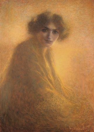 No Technical Levy Dhumer - La Bienveilleante / The Kind Lady - Dessin Original / Original Drawing - PASTEL - 1917