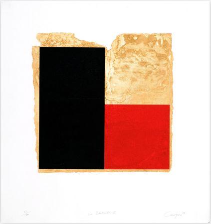 Engraving Canogar - La Bienvenida (rojo)